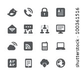 internet icons set | Shutterstock .eps vector #100361516