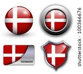 denmark flag icons theme. | Shutterstock .eps vector #100366676