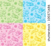 hand drawn seamless patterns... | Shutterstock .eps vector #100371686