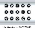 multimedia buttons | Shutterstock .eps vector #100371842