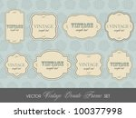 retro set of label and tags... | Shutterstock .eps vector #100377998