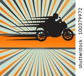 Race motorcycle burst vector background