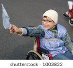 demonstration of disabled... | Shutterstock . vector #1003822