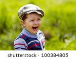 portrait of a happy little boy... | Shutterstock . vector #100384805