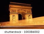 paris landmark   arc de... | Shutterstock . vector #100386002