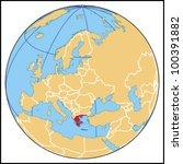 greece locate map   Shutterstock .eps vector #100391882
