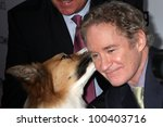 """Small photo of LOS ANGELES - APR 17: Kevin Kline with Kasey (the dog was Freeway in the movie) arrives at the """"Darling Companion"""" Premiere at Egyptian Theater on April 17, 2012 in Los Angeles, CA"""