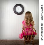 a young child in time out or in ... | Shutterstock . vector #100406356