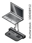 Diagram Of Laptop Attaching...