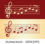 gold musical notes vector | Shutterstock .eps vector #10041091