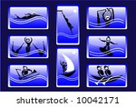 sport icon set   aqua   Shutterstock .eps vector #10042171