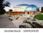 pavilion monkey zoo in... | Shutterstock . vector #100424335