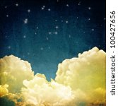 a fantasy cloudscape with stars.... | Shutterstock . vector #100427656