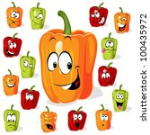 colored paprika  pepper ... | Shutterstock .eps vector #100435972