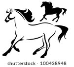 beautiful running horse  ... | Shutterstock .eps vector #100438948