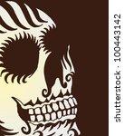 tribal skull | Shutterstock .eps vector #100443142