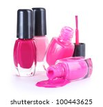 open bottles with bright nail...   Shutterstock . vector #100443625