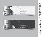 modern banner design with... | Shutterstock .eps vector #1004537182