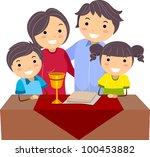 illustration of a family...   Shutterstock .eps vector #100453882