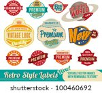 vintage retro labels and tags   ... | Shutterstock .eps vector #100460692