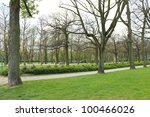 spring jubelpark in brussels ... | Shutterstock . vector #100466026