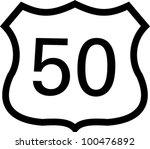 US 50 highway sign