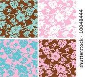 Vector Hibiscus Flower Pattern...