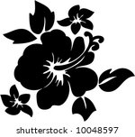 vector hibiscus flower... | Shutterstock .eps vector #10048597
