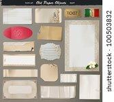 vector set   vintage paper | Shutterstock .eps vector #100503832
