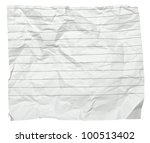 close up of  a crumpled piece... | Shutterstock . vector #100513402