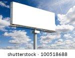 blank billboard on blue sky for ...   Shutterstock . vector #100518688