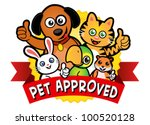 Stock vector pet approved seal 100520128