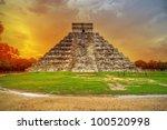 Kukulkan Pyramid In Chichen...
