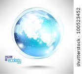 conceptual modern earth globe... | Shutterstock .eps vector #100523452