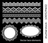 seamless lace set | Shutterstock .eps vector #100529602