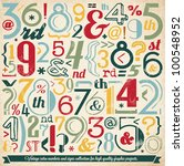 various vintage number and... | Shutterstock .eps vector #100548952