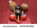 Percussion Instruments. Cabasa...