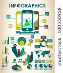 retro vector set of infographic ... | Shutterstock .eps vector #100550938