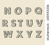 cute hand drawn font. vector... | Shutterstock .eps vector #100553206