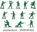 set of army plastic soldiers... | Shutterstock .eps vector #1005599422