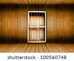 old room and door make from... | Shutterstock . vector #100560748