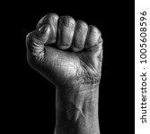 black and white portrait of... | Shutterstock . vector #1005608596