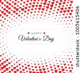 valentine's day greeting card....   Shutterstock .eps vector #1005615406