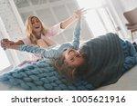 so much fun  beautiful young... | Shutterstock . vector #1005621916