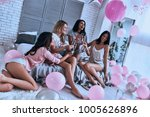 private party. four attractive... | Shutterstock . vector #1005626896
