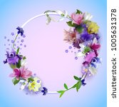 composition of spring flowers ... | Shutterstock .eps vector #1005631378