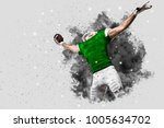 football player with a green... | Shutterstock . vector #1005634702