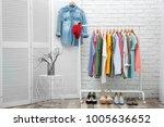 neat dressing room interior... | Shutterstock . vector #1005636652