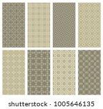 set of vertical seamless line...   Shutterstock .eps vector #1005646135