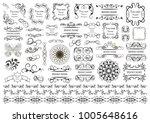 set of vector graphic elements...   Shutterstock .eps vector #1005648616